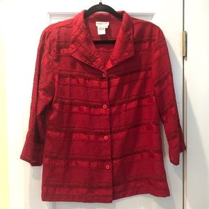 Coldwater Creek Red Blouse
